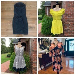 4-Piece Women's Dress and Robe Bundle Lot S